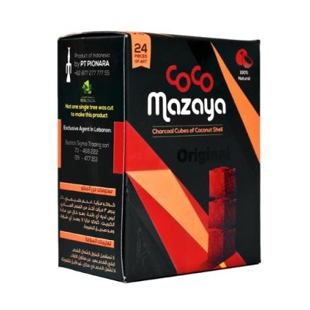 MAZAYA CHARCOAL SMALL 48 Box x 24 Pcs